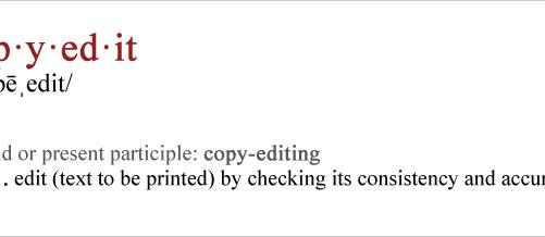 copy editing tips