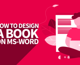 create a print ready pdf book cover with microsoft word