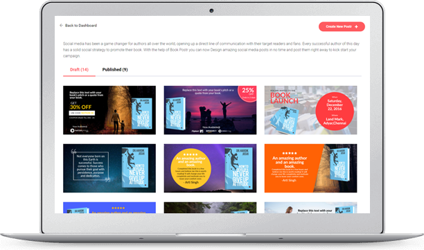 Self publishing in india book publishers online publishing design amazing social media posts in no time post them right away or schedule your posts as a campaign fandeluxe Images